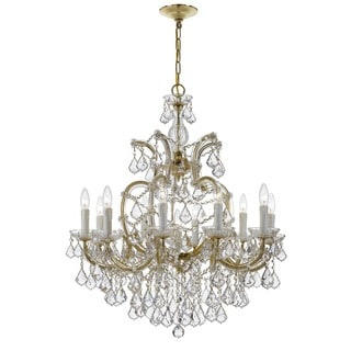 Crystorama Maria Theresa Collection 11-light Gold/Swarovski Spectra Crystal Chandelier