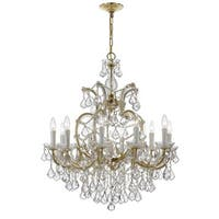 Crystorama Maria Theresa Collection 11-light Gold/Swarovski Elements Spectra Crystal Chandelier