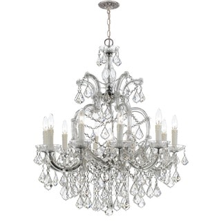 Crystorama Maria Theresa Collection 11-light Polished Chrome/Swarovski Spectra Crystal Chandelier