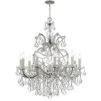 Crystorama Maria Theresa Collection 11-light Polished Chrome/Swarovski Elements Spectra Crystal Chandelier