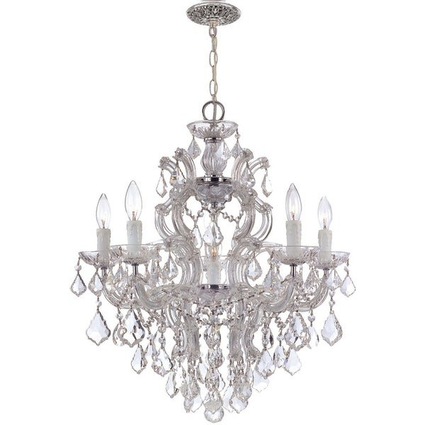 Crystorama Maria Theresa Collection 6-light Polished Chrome/Swarovski Strass Crystal Chandelier