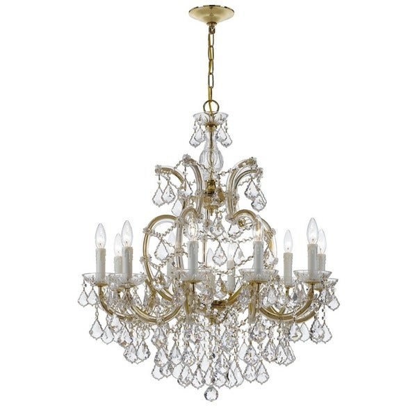 Crystorama Maria Theresa Collection 11-light Gold/Crystal Chandelier - Gold