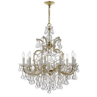 Crystorama Maria Theresa Collection 11-light Gold/Crystal Chandelier