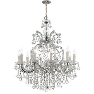 Crystorama Maria Theresa Collection 11-light Polished Chrome/Swarovski Strass Crystal Chandelier