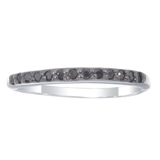 Sterling Silver 1/4ct TDW Black Diamond Wedding Band