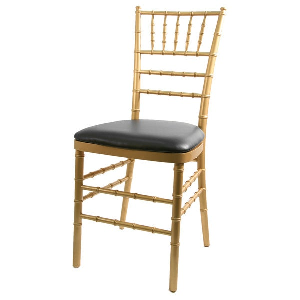 Max Chiavari Wood/Vinyl Cushioned Dining Chair - Free Shipping Today - Overstock.com - 19398496