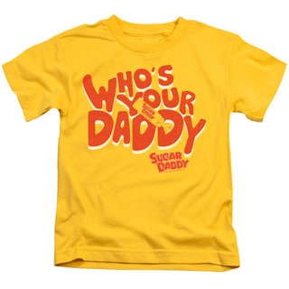 Tootsie Roll/Who's Your Daddy Short Sleeve Juvenile Graphic T-Shirt in Yellow