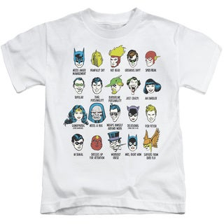 DC/Superhero Issues Short Sleeve Juvenile Graphic T-Shirt in White