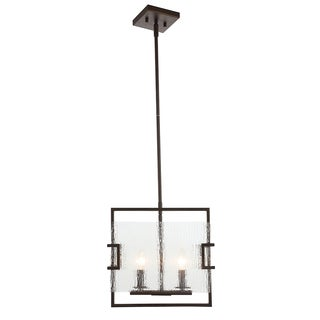 OVE Decors Anares ii Black Steel LED integrated Pendant Light