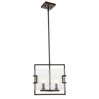 OVE Decors Anares ii Black Steel LED integrated Pendant Light