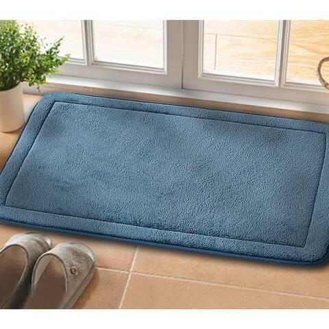 2 Piece Non-Slip Luxurious Memory Foam Bath Mat Set - n/a