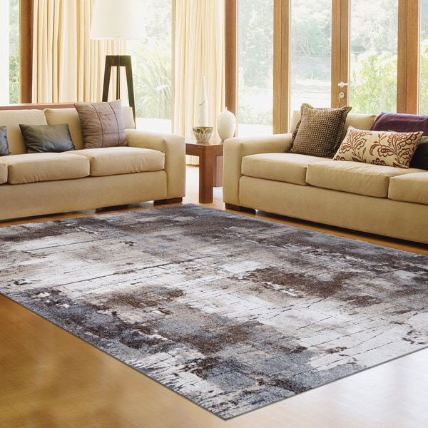 Avenue 33 Brown/Beige Poly-blend Area Rug - 7'10 x 10'