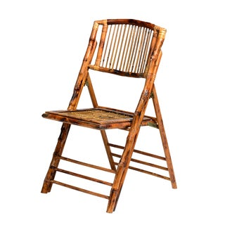 Natural Glossy Bamboo Folding Chair