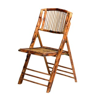 Natural Glossy Bamboo Folding Chair