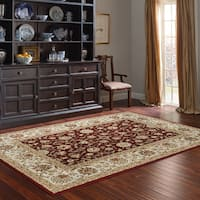 Avenue 33 Cambridge Burgundy/Ivory Polypropylene Area Rug - 6'6 x 9'6