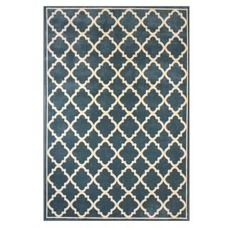Broyhill Wheaton Steel Blue Polypropylene Machine-woven Area Rug (7'5 x 10')