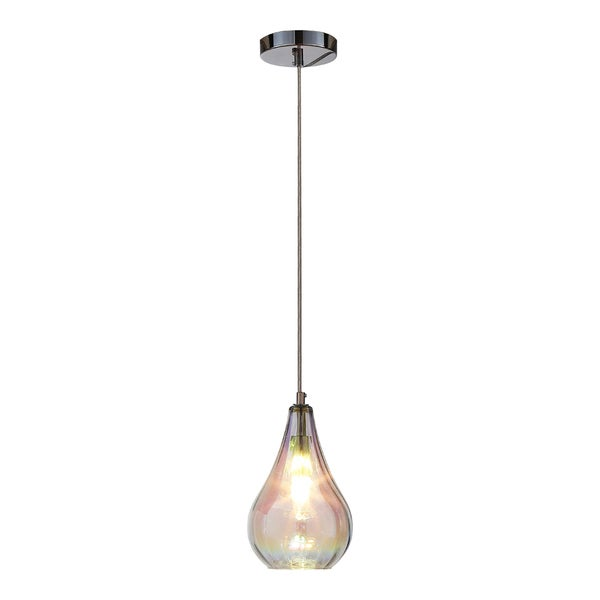 OVE Decors Bose Colorful Glass Finish LED Integrated Pendant Light