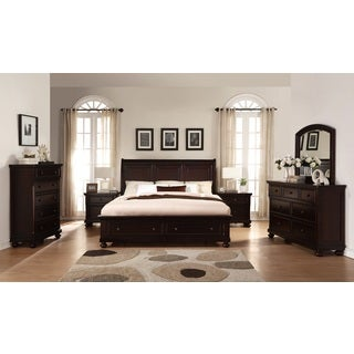 Brishland Rustic Cherry King-size Storage Bedroom Set