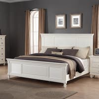 Laveno White Wood Queen Bed Free Shipping Today