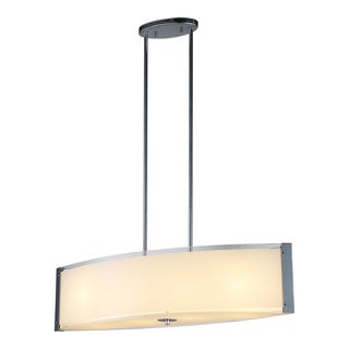 OVE Decors Bailey III Chrome Finish Iron LED Integrated 4-light Pendant