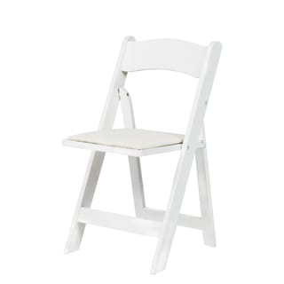 American Classic White/Red Mahogany/Natural Wood Folding Chair