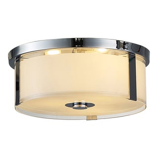 OVE Decors Bailey I Chrome-finish LED-integrated Flushmount Ceiling Fixture