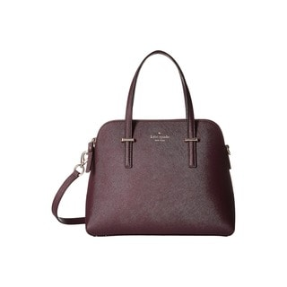 Kate Spade New York Cedar Street Maise Mahogany Leather Satchel Handbag