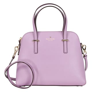 Kate Spade New York Cedar Street Maise Lilac Petal Leather Satchel Handbag