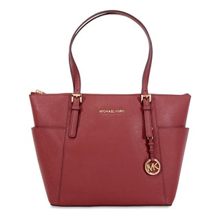 Michael Kors Jet Set Brick Leather Tote Bag