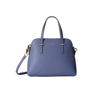 Kate Spade New York Cedar Street Maise Oyster Blue Leather Satchel Handbag