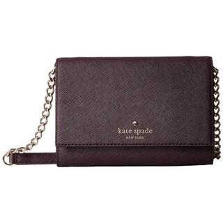 Kate Spade New York Cedar Street Cami Mahogany Leather Convertible Crossbody Handbag