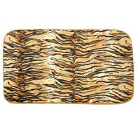 Faux Fur Tiger Print Cushioned Bath Rug (20 x 31.5)