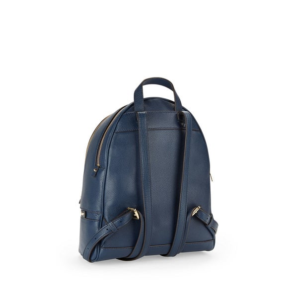 Shop Michael Kors Rhea Blue Leather Zip Admiral Small