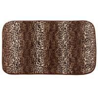 Multicolor Faux-fur Cheetah Print Cushioned Bath Rug (1'8 x 2'7.5)