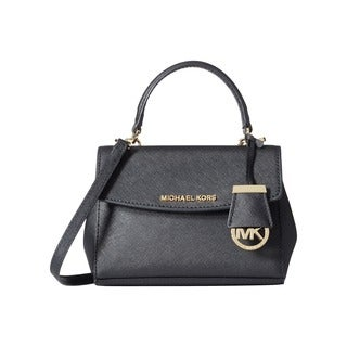 Michael Kors Ava Black Leather Mini Crossbody Handbag