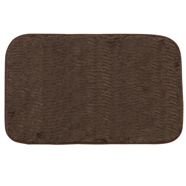 Shop Brown Faux Fur 20-inches X 31.5-inches Cushioned Bath