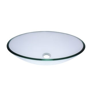 Novatto Ovale Clear Glass Vessel Bathroom Sink