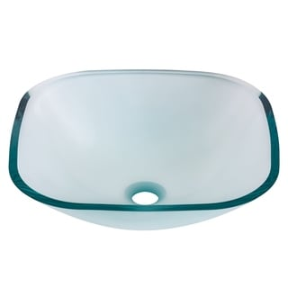 Novatto Piazza Glass Vessel Bathroom Sink