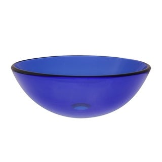 Novatto Blu Glass Vessel Bathroom Sink