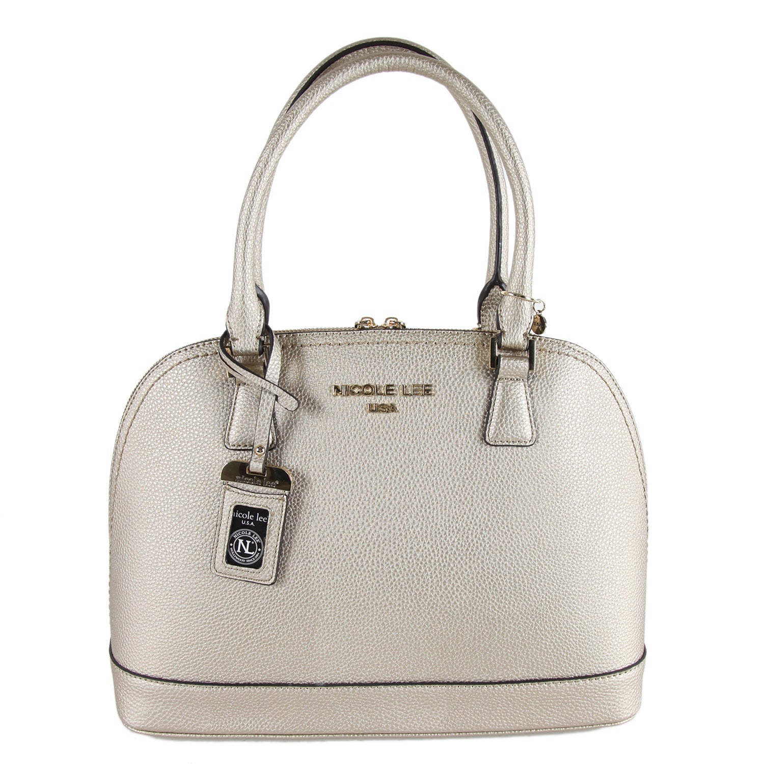 Nicole Lee Kiley Pewter Dome Satchel Handbag (Pewter), Wo...