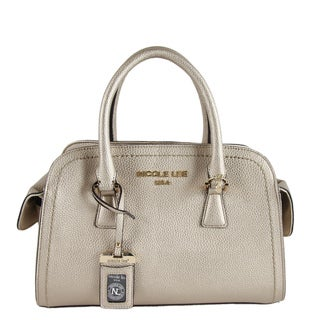 Nicole Lee Kiley Pewter Satchel Handbag