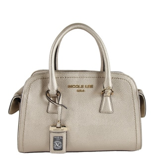 Nicole Lee Kiley Pewter Satchel Handbag