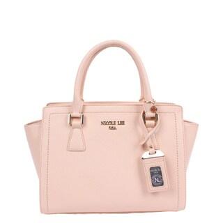 Nicole Lee Kyra Beige Faux Leather/Nylon Satchel Handbag