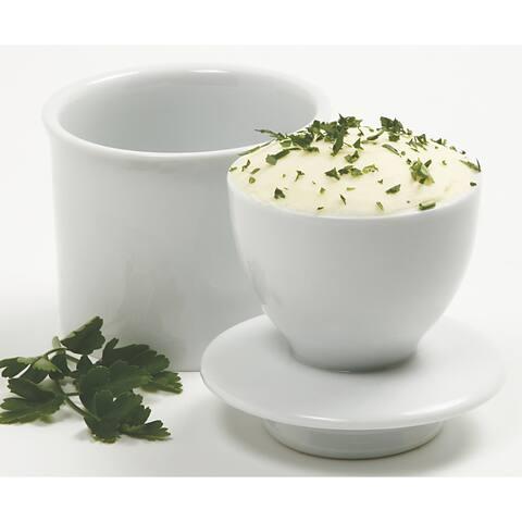 Norpro 291 White Porcelain Butter Keeper
