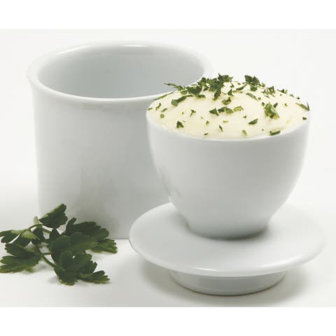 Norpro 291 White Porcelain Butter Keeper