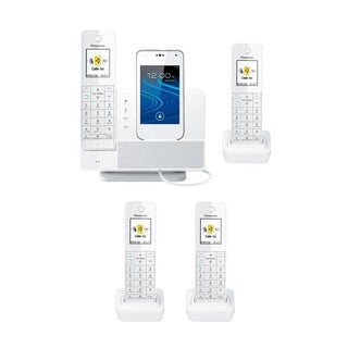 Panasonic Link2Cell Digital Phone with Smartphone Dock & 4 Cordless HandsetsAPANKXPRD262WK2