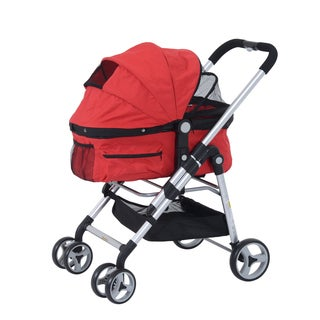 Pawhut Four Wheel Pet Stroller