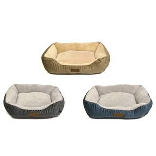 Home Dynamix Comfy Pooch Textured Microfiber Dog Bed