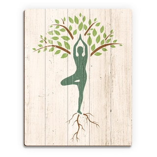 Tree Yoga' Wooden Wall Art