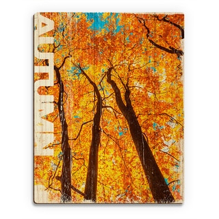 Autumn' Wall Art on Wood